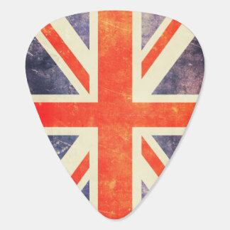 Vintage Union Jack flag Plectrum