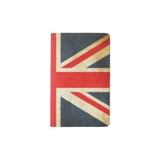Vintage Union Jack Flag Pocket Moleskine Notebook