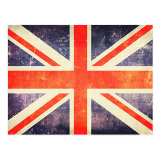 Vintage Union Jack flag Postcard