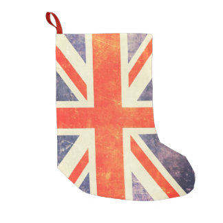 Vintage Union Jack flag Small Christmas Stocking