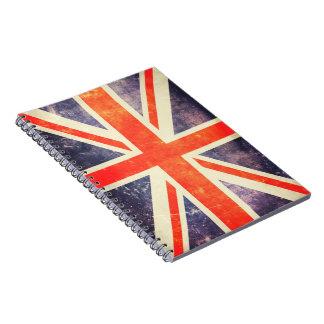 Vintage Union Jack flag Spiral Notebook