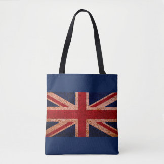 Vintage Union Jack Flag Tote Bag