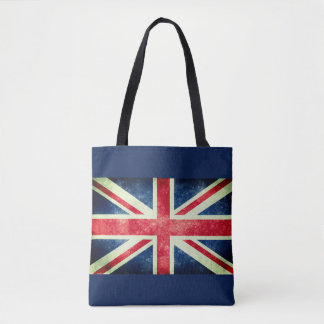 Vintage Union Jack Flag Tote Bag