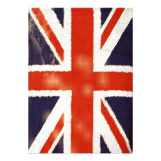 Vintage Union Jack Invitation Vertical