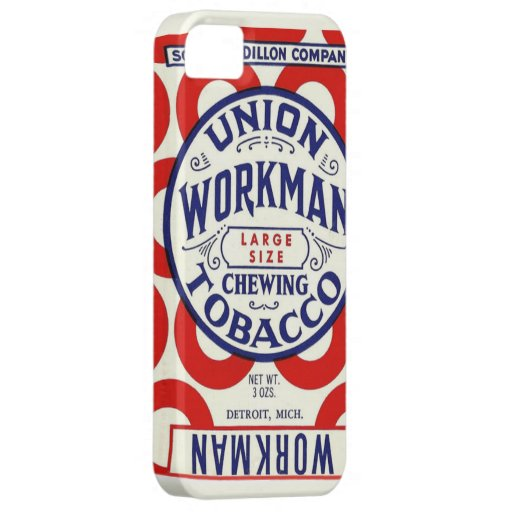 Vintage Union Workman Chewing Tobacco Poster Cover For iPhone 5/5S