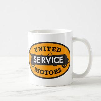 Vintage United Service Motors sign Classic White Coffee Mug