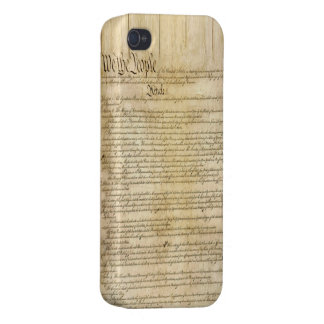 Vintage United States Constitution Cover For iPhone 4