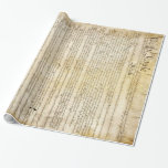 Vintage United States Constitution Gift Wrap