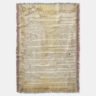 Vintage United States Constitution Throw Blanket