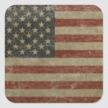 Vintage United States Flag Stickers