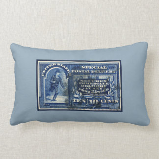 Vintage United States Special Postal Delivery Pillow