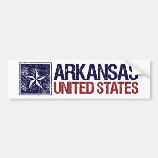 Vintage United States with Star – Arkansas Bumper Sticker