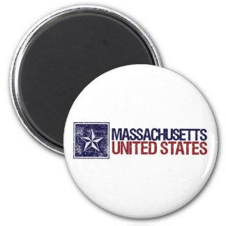 Vintage United States with Star – Massachusetts Refrigerator Magnet