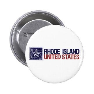 Vintage United States with Star – Rhode Island 6 Cm Round Badge