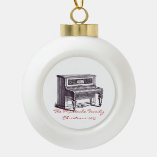 Vintage Upright Piano Ornament