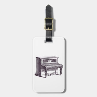 Vintage Upright Piano Luggage Tag