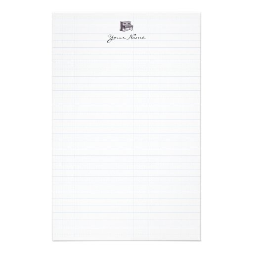 Vintage Upright Piano Stationery Paper