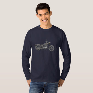 Vintage Ural Motorcycle Drawing Men's Long Sleeve T-Shirt