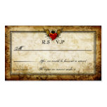 Vintage Urban Tattoo Winged Heart RSVP Cards