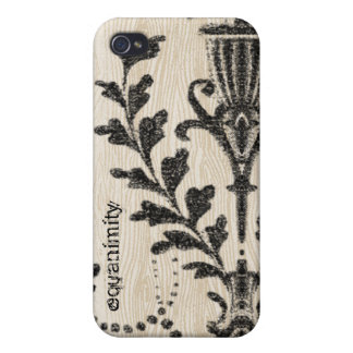 Vintage Urn Wood Grain iPhone Cover Case For iPhone 4