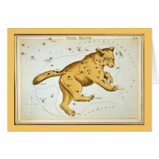 Vintage Ursa Major Bear Greeting Card