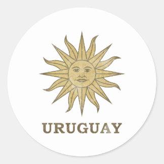 Vintage Uruguay Classic Round Sticker