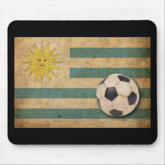 Vintage Uruguay Flag Mouse Mat
