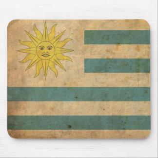 Vintage Uruguay Flag Mouse Pad