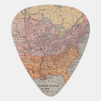 Vintage US Civil War Era Map 1861 Plectrum