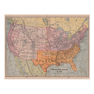 Custom Us Civil War Postcards Zazzlecouk - Map of the us in the civil war