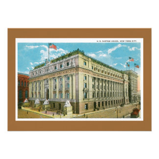Vintage US Custom House, New York City Personalized Invite