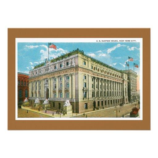 Vintage US Custom House, New York City Personalized Invite
