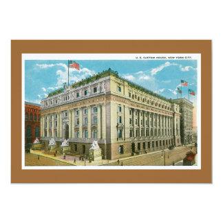 "Vintage US Custom House, New York City 5"" X 7"" Invitation Card"