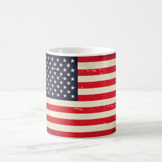 Vintage US Flag Coffee Mug