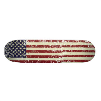 Vintage US Flag Skateboard