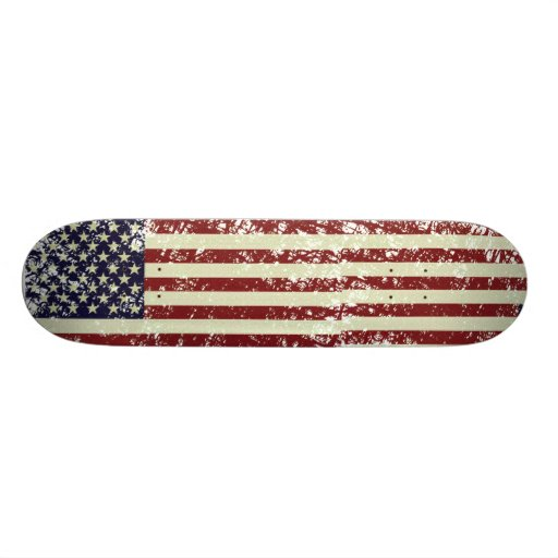 Vintage US Flag Skateboard