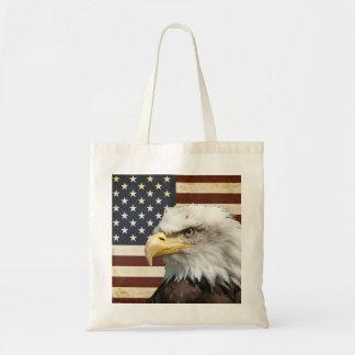 Vintage US USA Flag with American Eagle