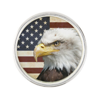 Vintage US USA Flag with American Eagle Lapel Lapel Pin