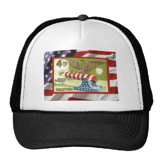 Vintage USA, 4th July, firecrackers Hats