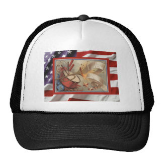 Vintage USA, 4th July, firecrackers Hat