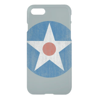 Vintage USA Aircraft Star Logo Clear iPhone case