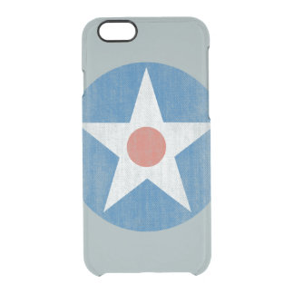 Vintage USA Aircraft Star Logo Clear iPhone case iPhone 6 Plus Case