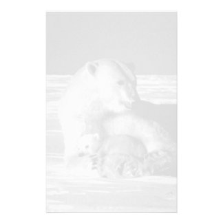 Vintage USA Alaska mother polar bear 1970 Stationery
