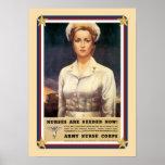 Vintage USA Army Nurse Corps Poster