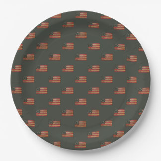 Vintage USA Flag 9 Inch Paper Plate