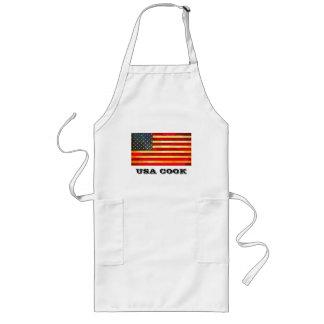 Vintage USA Flag Long Apron