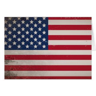 Vintage USA Flag Card