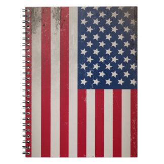 Vintage USA Flag Notebooks