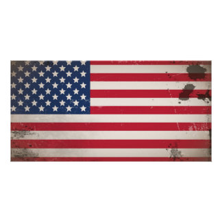 Vintage USA Flag Photo Cards