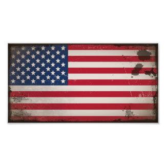 Vintage USA Flag Photograph